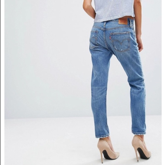 high quality materials stylish design famous brand Levi's 501 CT Boyfriend Jeans